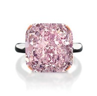 10 Carat Fancy Light Purplish Pink Diamond Ring 10 Carat Fancy Light Purplish Pink Diamond Ring