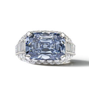 1965 Bulgari blue diamond ring 5.3 Carats Deep Blue Diamond Sold for $9.6 Million   New World Record